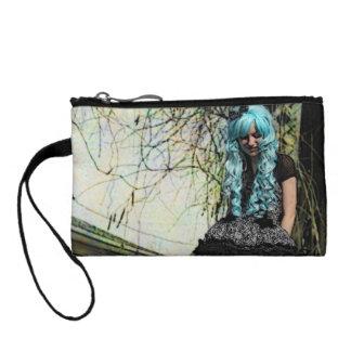 Blue Hair Lolita Girl Clutch Bag