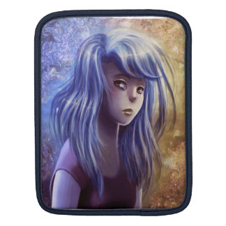 Blue Haired Girl Rickshaw Sleeve iPad Sleeve