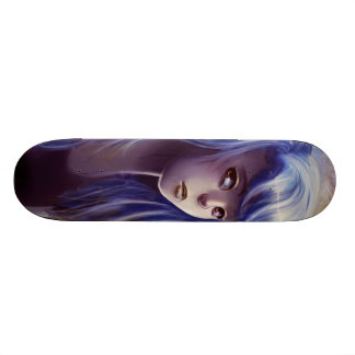 Blue Haired Girl Skateboard