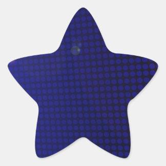 blue halation star sticker