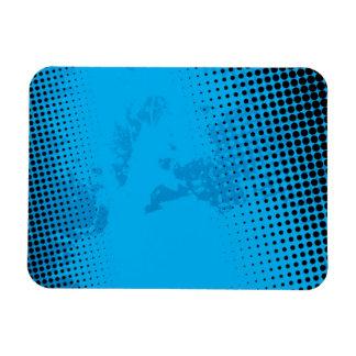 Blue Halftone and Paint Splatter Magnet