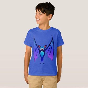 Halloween Themed Blue Halloween Bat T-Shirt
