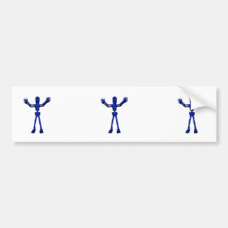 Blue Halloween Skeleton Bumper Sticker