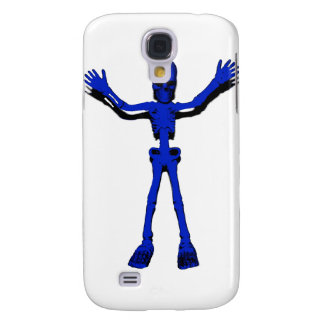 Blue Halloween Skeleton Galaxy S4 Cover