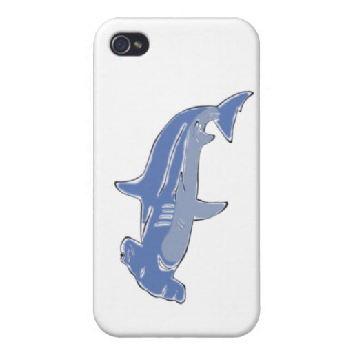 Blue Hammerhead iPhone case iPhone 4 Cover
