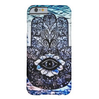 Blue Hamsa Eye Art Nouveau Barely There iPhone 6 Case