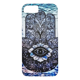 Blue Hamsa Eye Art Nouveau iPhone 7 Case