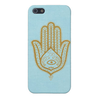 Blue Hamsa Cover For iPhone 5/5S