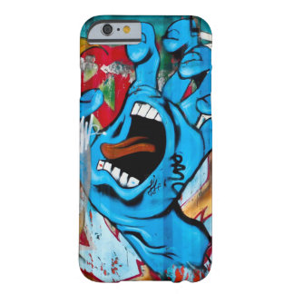 Blue Hand Graffiti Barely There iPhone 6 Case