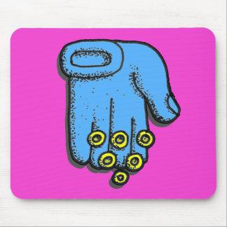 Blue Hand Mousepad