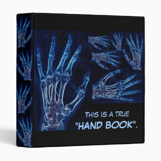 Blue Hand X-ray binder