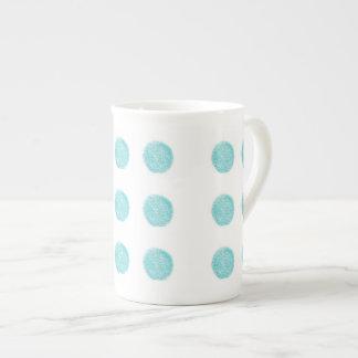 Blue Handmade Polka dots Mug