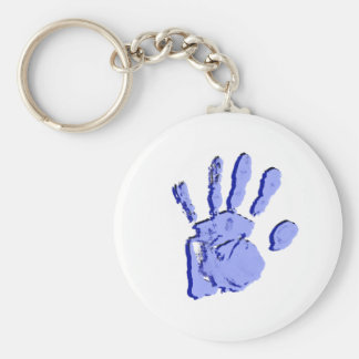 Blue Handprint Keychain