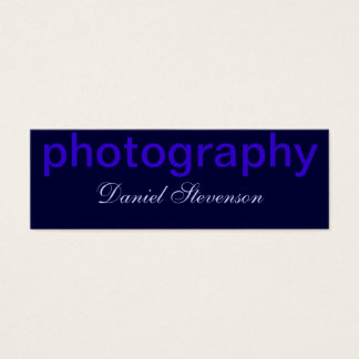 Blue Handwriting Script Photography Business Card