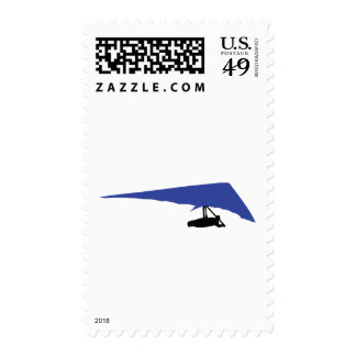 blue hang-glider icon postage stamps