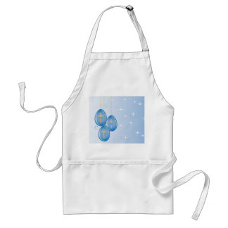 Blue hanging Easter eggs with gold crosses Apron