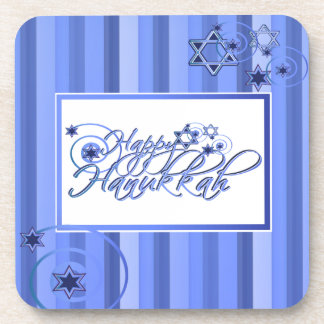 Blue Hanukkah Coasters