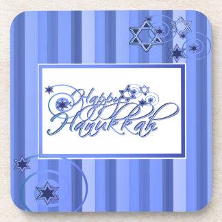 Blue Hanukkah Coasters