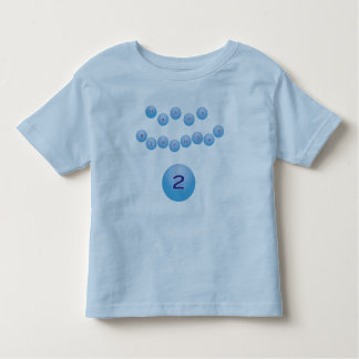 Blue Happy Birthday for Boy Age 2 Toddler T-shirt