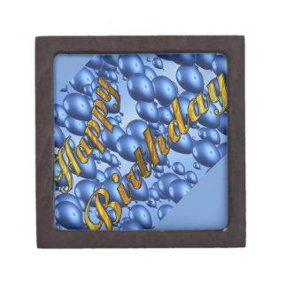 Blue Happy Birthday Gift Box