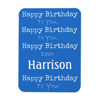 Blue Happy Birthday Song Premium Flexi Magnet