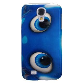 Blue Happy Cartoon Eyes on Fiberglass Toy Samsung Galaxy S4 Cover