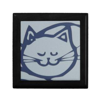 Blue Happy Cat Sleeping Gift Box