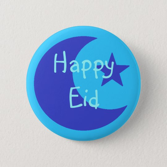 Blue Happy Eid Button