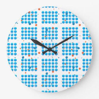 BLUE HAPPY FACES RUND WALL CLOCK