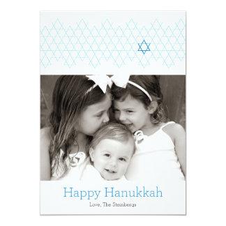 Blue Happy Hanukkah Holiday Photo Card