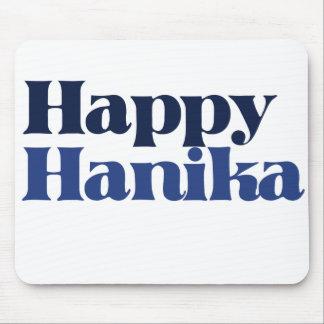 Blue Happy hanukkah Mouse Pad