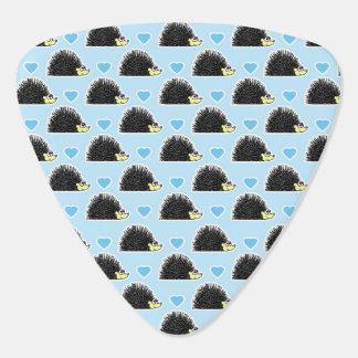 Blue Happy Hedgehog Love Pattern Guitar Pick