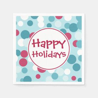 Blue Happy Holidays Napkins