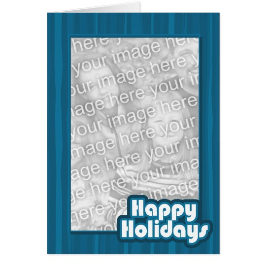 Blue Happy Holidays Template