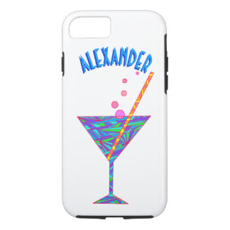 Blue Happy Hour Cocktail Glass ifone7 Martini iPhone 8/7 Case