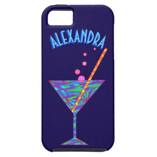 Blue Happy Hour ifoneSE Cocktail Glass Martini iPhone SE/5/5s Case