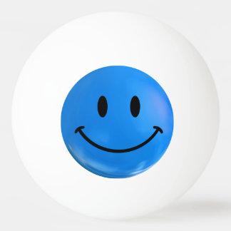 Blue Happy Sad Smiley Bi Polar Ping Pong Ball
