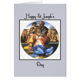 Blue Happy St. Joseph's Day Card