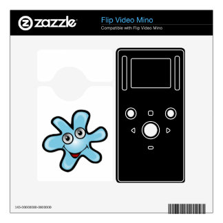 Blue happy star flip video mino decal
