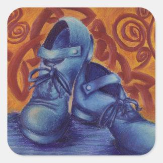 Blue Hard Shoes Sticker