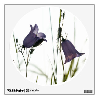 Blue harebells wall decal