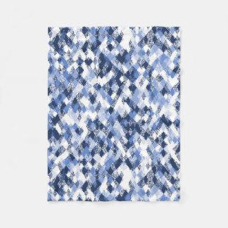 Blue Harlequin Abstract Pattern Fleece Blanket