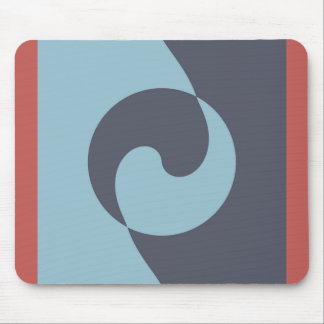 Blue Harmony over Red Mouse Pad