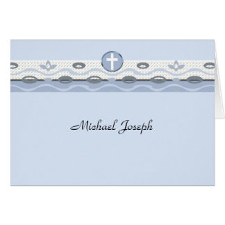 Blue Harmony Photo Thank You Notecard Greeting Card