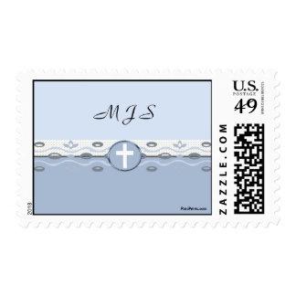 Blue Harmony Postage Stamp (for unusual shape enve