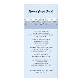 Blue Harmony Slim Invitation Custom Rack Card