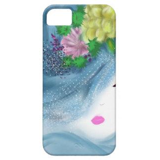 blue hat lady Brides Maid Art iPhone SE/5/5s Case