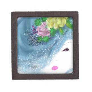 blue hat lady Brides Maid Art Premium Gift Boxes