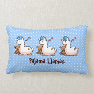 Blue Hat Pajama Llama Pillows