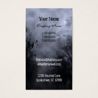 Blue Haunted Sky Custom Business Cards
